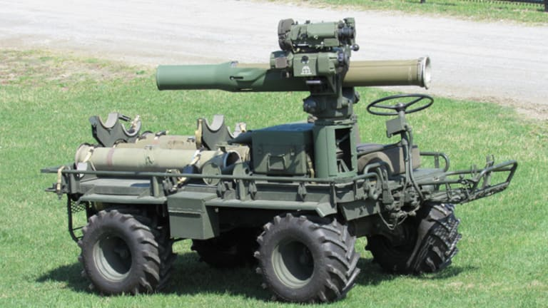 """M274A5 """"Mule"""" with TOW anti-tank missile launcher"""