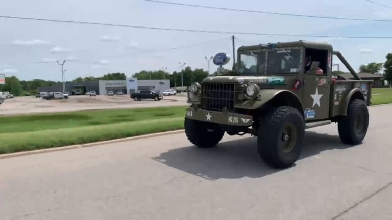 VINTAGE MILITARY DODGE M37 COMPETES IN THE GREAT RACE