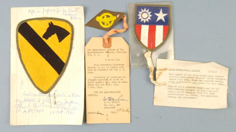 Army Quartermaster Sample Patches of WWII