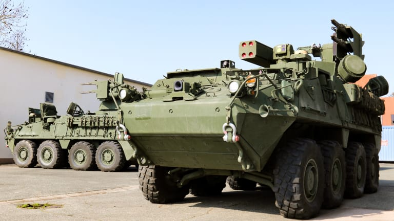 US Army Deploys Mobile Short Range Air Defense (M-SHORAD) Stryker vehicles in Europe