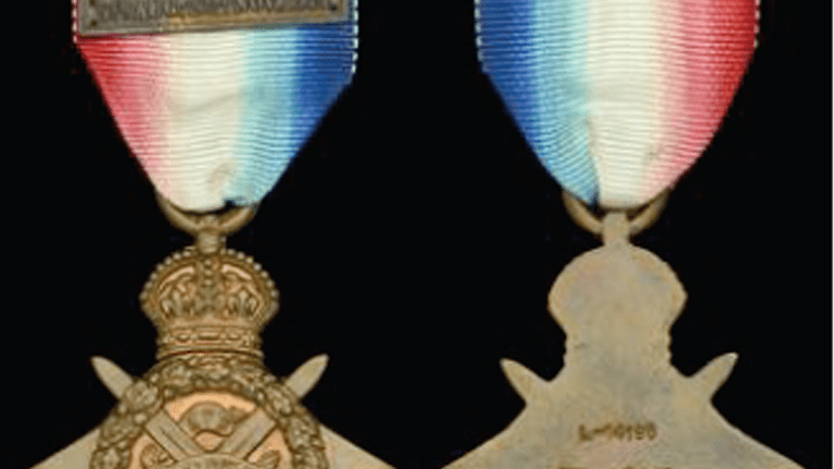 Medal awarded to first British soldier killed during the Great War sells for £17,000 at Dix Noonan Webb Sale