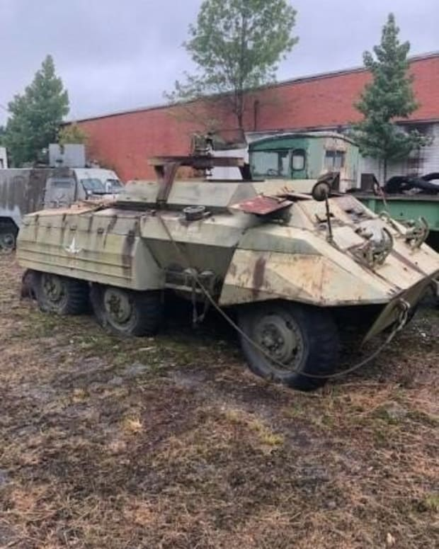 Lot 8. M20 Armored Car by Ford. Sold for $27,000.