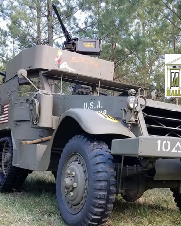 M2A1 Half-track with HoF logo