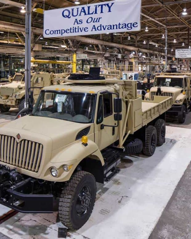 Navistar factory producing 6x6 cargo trucks.