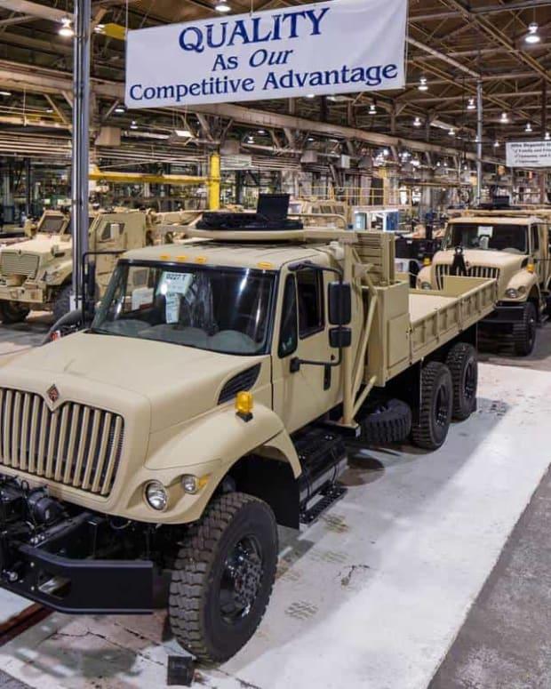 Navistar factory producing 6x6 cargo trucks.