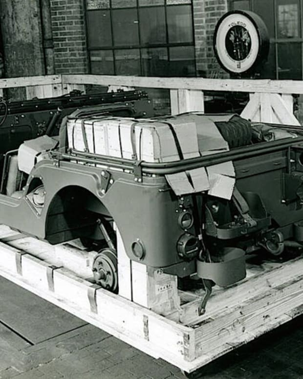 M38A1 Jeep in a crate.