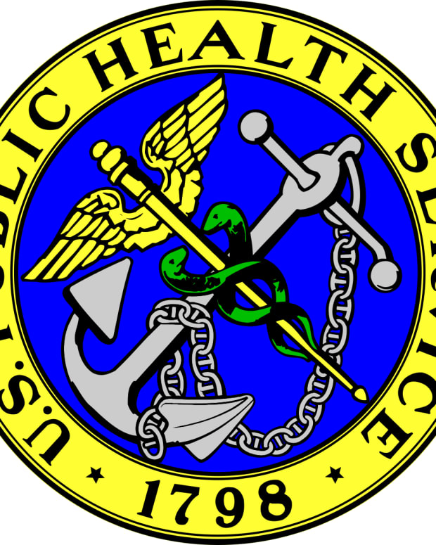 Logo of the Public Health Service, established 1798