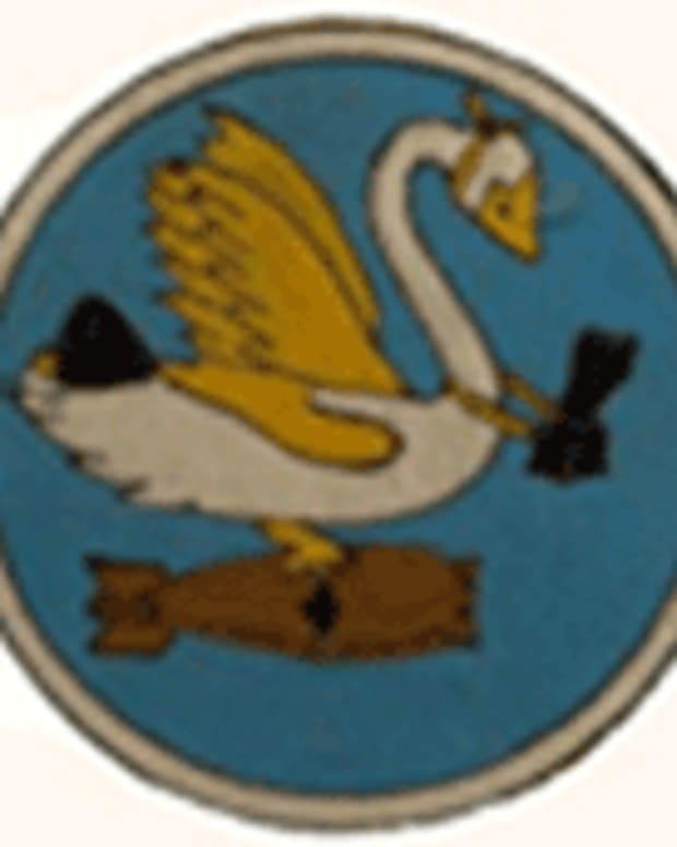 Swoosh patch of the 463rd.