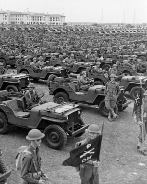 Willys Jeep MB Army Day Parade Texas USA 1942.