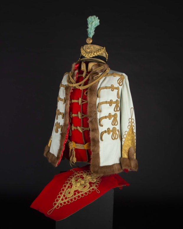 A uniform of an Austrian general of the cavalry in Hungarian gala-adjustment, circa 1900, Austria, 1890 – 1910.