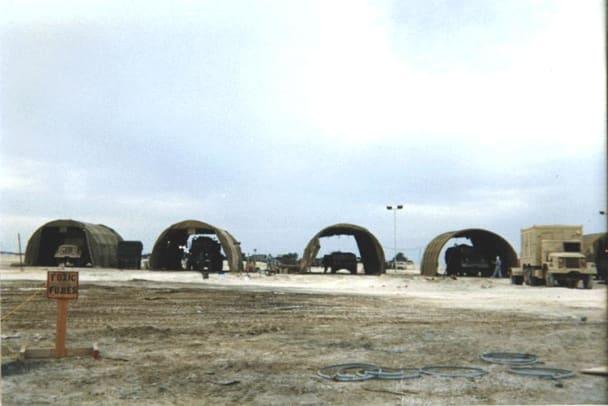 Paint tents at El Jubayl