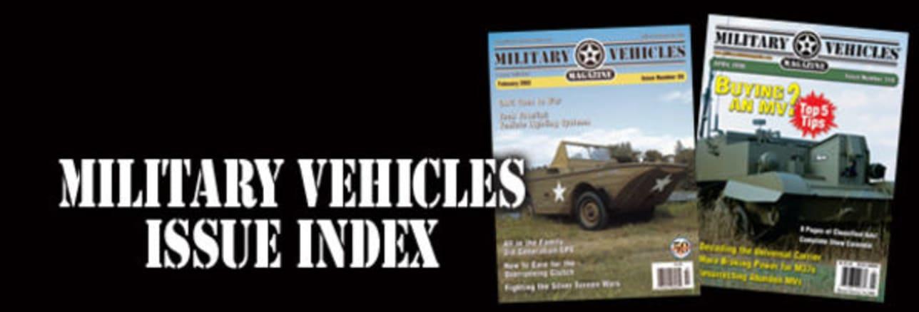 INDEX: Military Vehicles Magazine