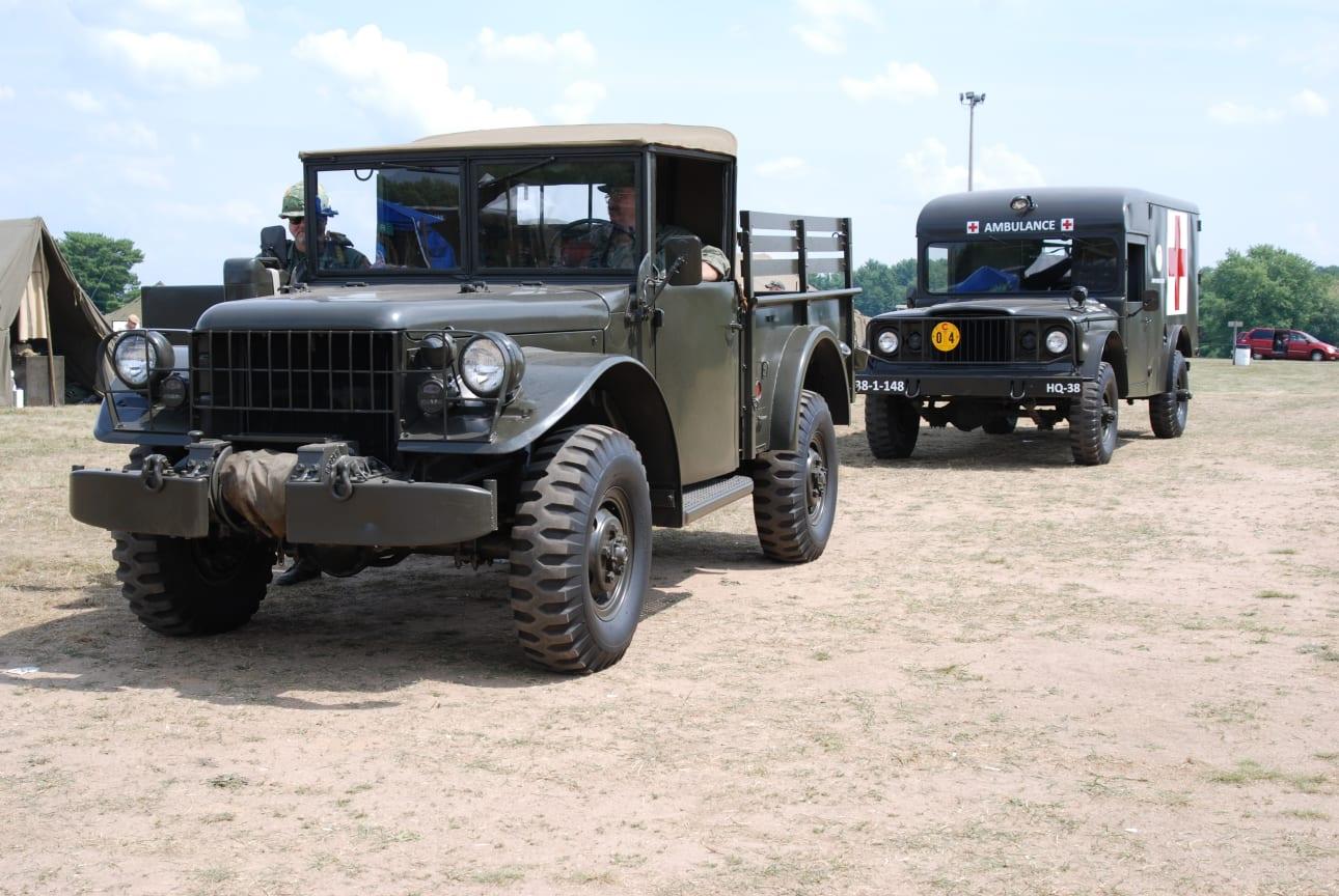3. Half to Three Quarter Ton Vehicles (Mules, WCs, M37s, etc.)