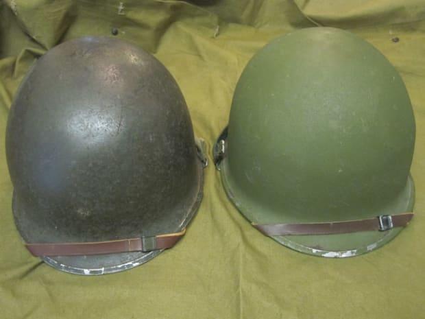 Winer Outdoor WW2 US M1 Helm Stahlgr/ün mit Mesh Mesh Canvas Kinn Cat Eye G/ürtel Einstellbare Gr/ö/ße