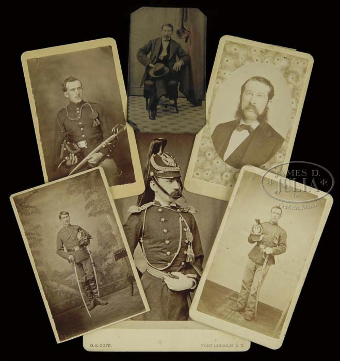 A single owner collection of images and objects relating to General Custer and his 7th Cavalry and the infamous Battle of Little Big Horn. Approximately 80 items including Captain George Yates (KIA) carved Meerschaum pipe and image and also carved Meerschaum pipe and image of Captain Thomas Benteen Weir. Entire collection estimated at $300,000-$400,000.
