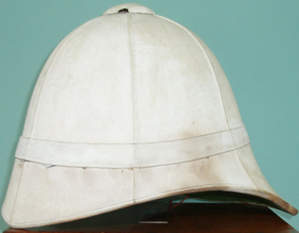 Above is a British Foreign Service helmet without the puggaree.