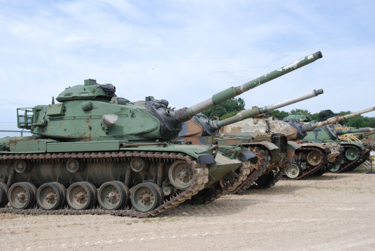 Displayed armor range from WWII M4 Sherman Medium Tanks to Cold War M60A3s.