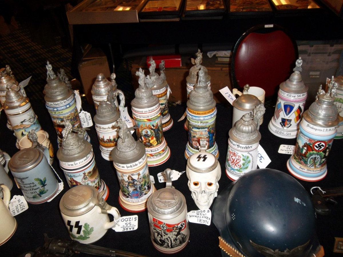 Steve Donohue's collection of beer steins were there to toast the show!