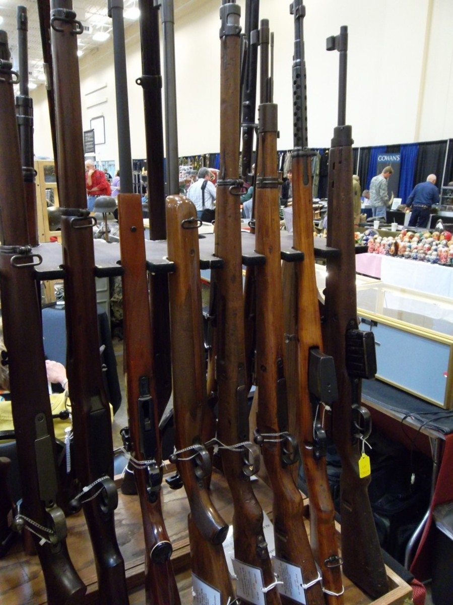 An instant collection of World War II rifles was available for purchase, with some nice examples of the Springfield '03, M1 Garand, K-98, SVT-40 and even a spot on G-43 for sale