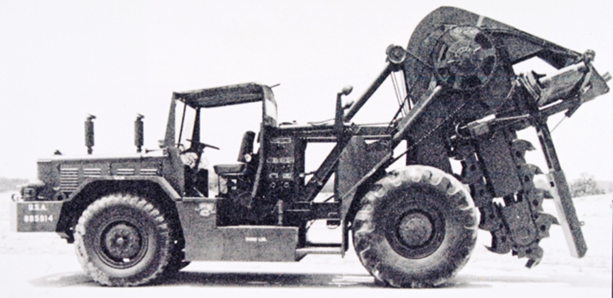 Unit Rig used Barber-Greene's example. However, they used their own digging machinery on their vehicle, not Barbour Green's.