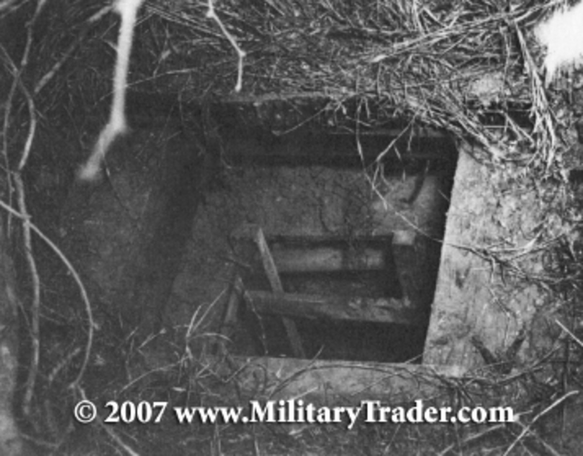 Entrance of the tunnel through which the 25 German POWs escaped on the night of December 23/24, 1944.