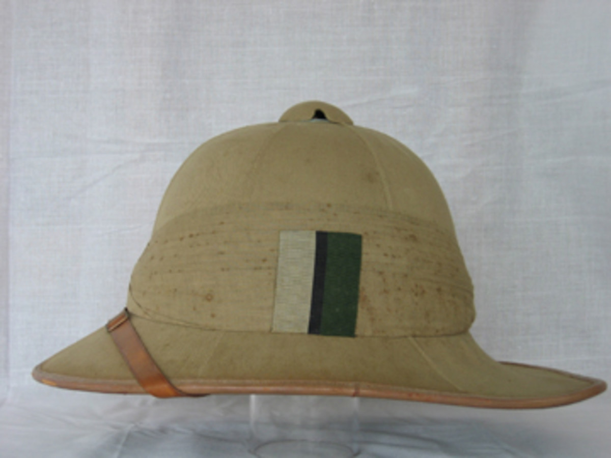This post-WWI Wolseley helmet was worn by Lt H. A. Stallan, Royal Signal Corps.