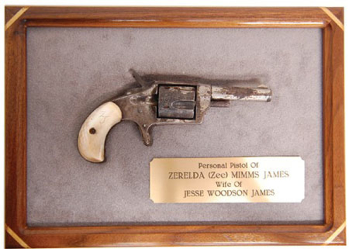 Pocket pistol purchased in 1879 by the legendary outlaw Jesse James for his wife, Zee James.