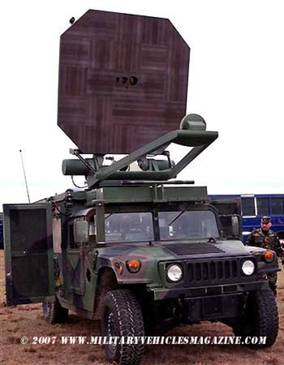 The Active Denial System, about to be demonstrated to reporters at Moody Air Force Base in Georgia.