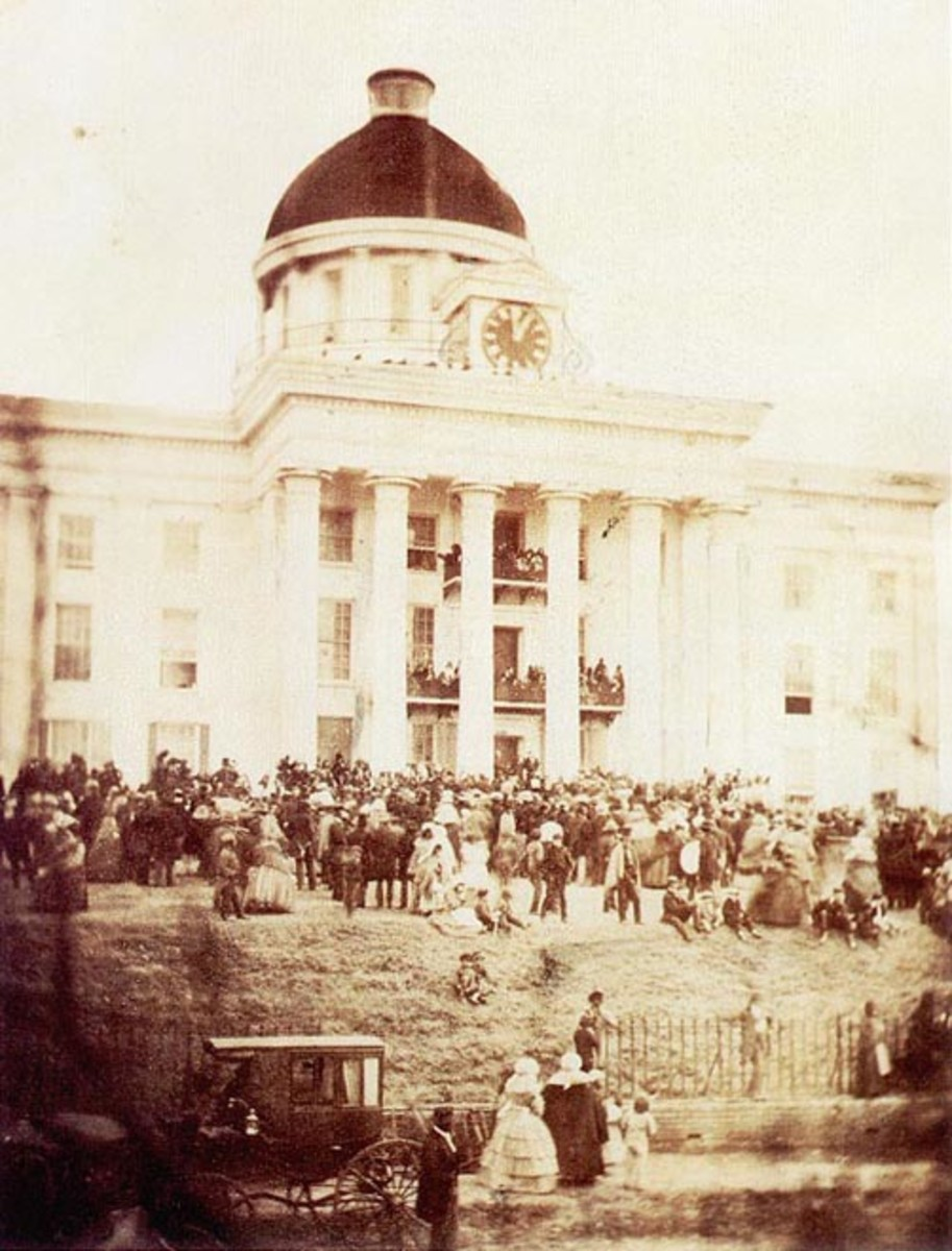 Jefferson Davis inauguration.
