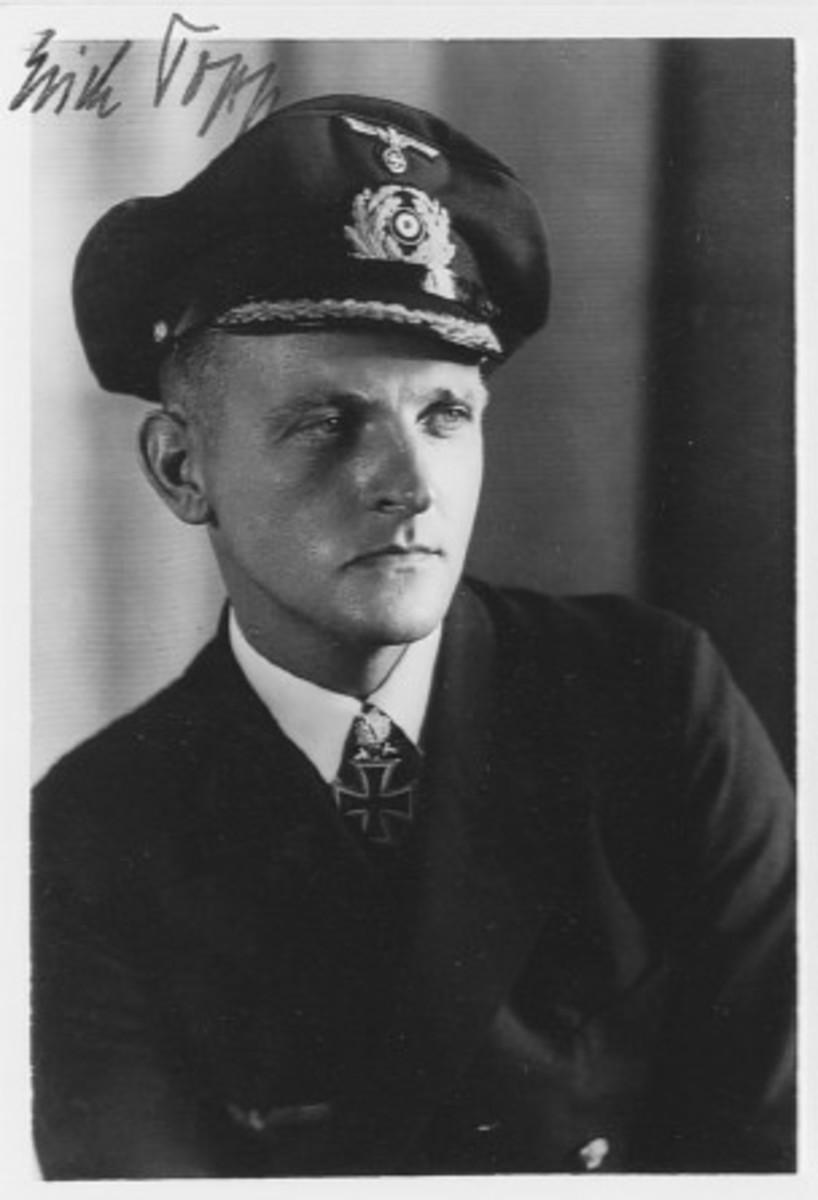 Erich Topp, the third top scoring U-boat commander of World War II,