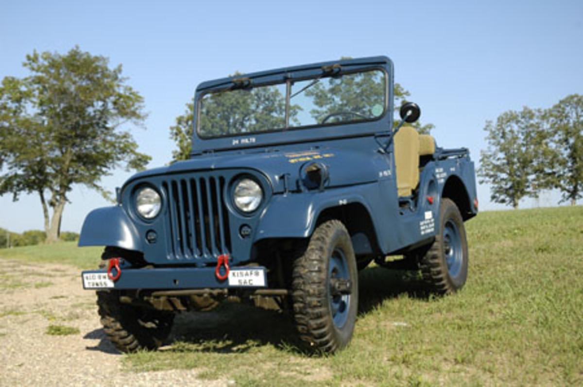 """The M38A1 is, perhaps, the most """"all around"""" military Jeep. Comfortable and safer than earlier models, it is an ideal Jeep for play and display (M38A1 pictured here restored by Tim King)."""