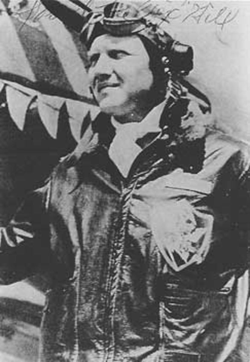 "David Lee ""Tex"" Hill commanded the 2nd Pursuit Squadron."