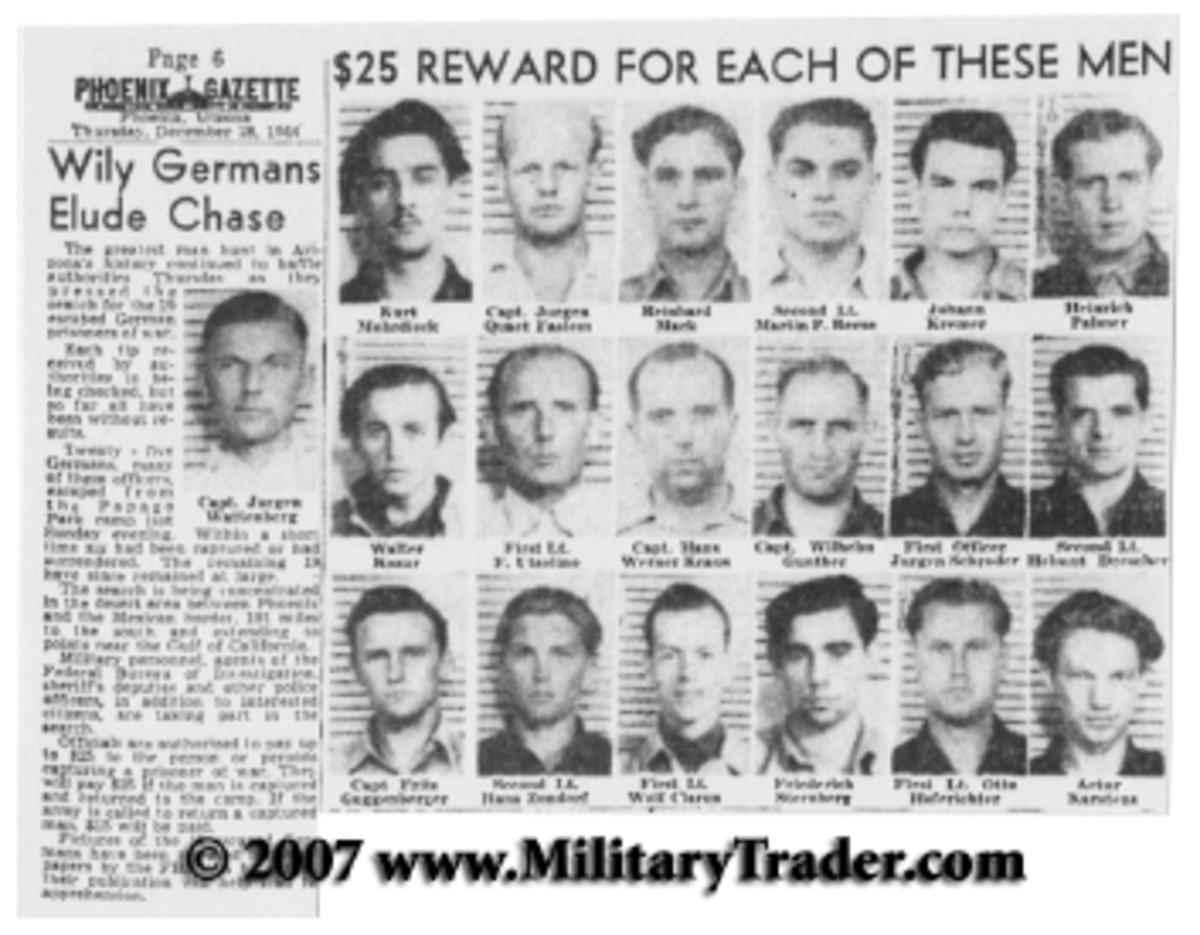 Pictures of the 19 remaining POWS appeared in the December 28, 1944, copy of the Phoenix Gazette.
