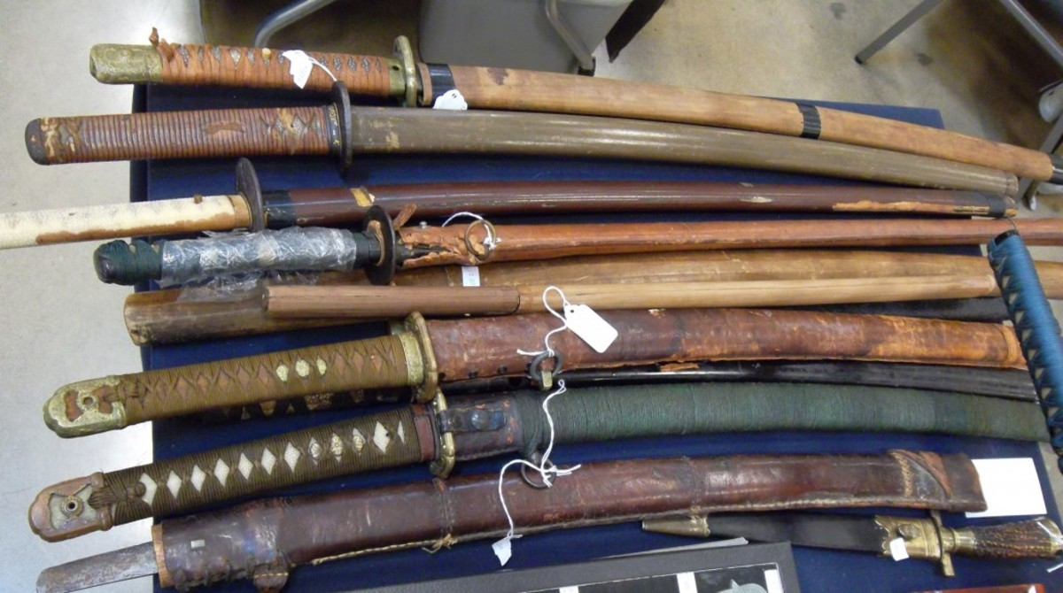 How are you fixed for blades? Here were enough Japanese swords to allow visitors to make their own samurai film