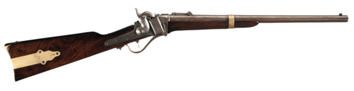 Historical Sharps John Brown Model 1853 Percussion Carbine. $34,500.