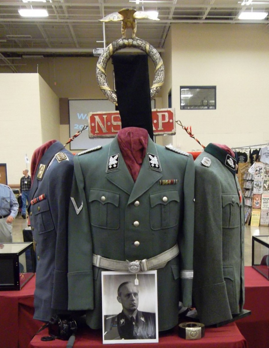Joachim von Ribbentrop's tunic was among the items for sale from Craig Gottlieb Militaria – sadly a case of vintage case of champagne was not offered with purchase