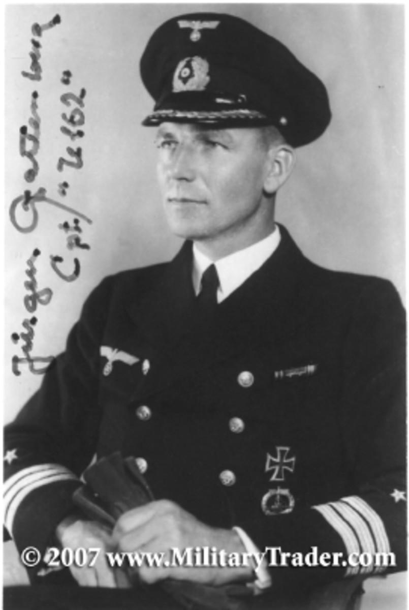 Kapitanleutnant Jurgen Wattenberg, commander of U-162