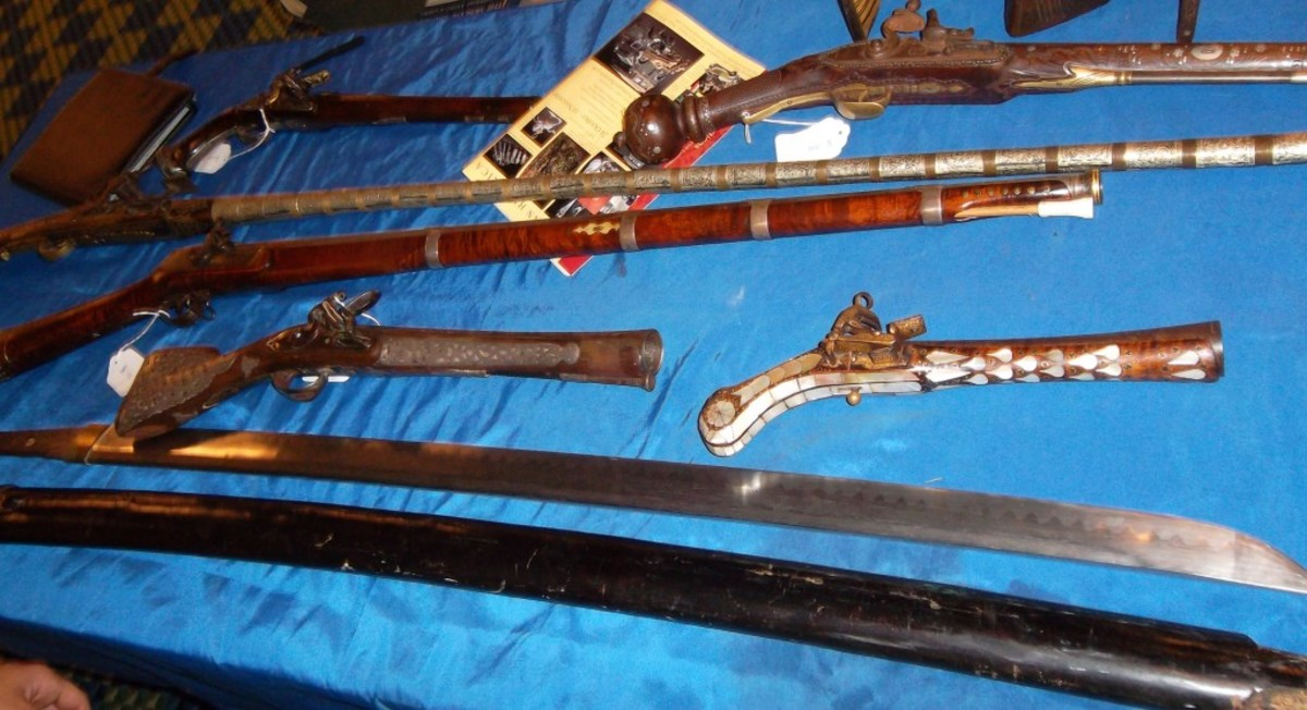 """Some truly """"vintage"""" firearms were on display at the MAX"""