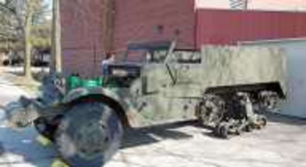 The Yankee Air Museum in Belleville, Mich., has a new restoration project – a halftrack