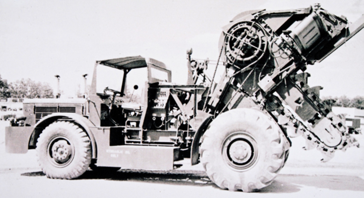 The Barber-Greene ditching machine illustrates American construction industry at work. Barber-Greene re-engineered their ditcher and a vehicle into an entrencher, all to comply with the MIL-SPEC that reflected the needs of CE troops.