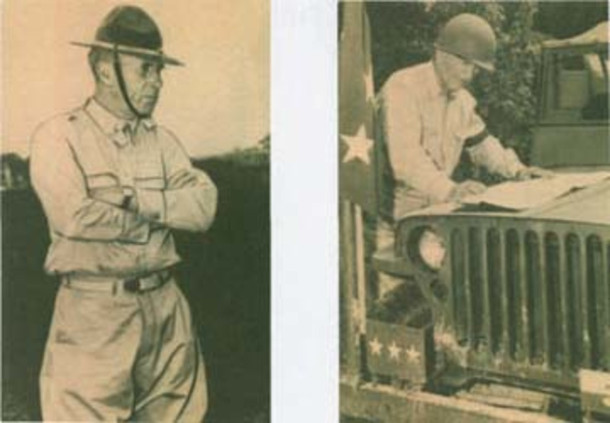 Lieutenant General Ben Lear (left) was in command of the Second (Red) Army, while Lieutenant General Walter Krueger (right) was in command of the Third (Blue) Army during the 1941 Louisiana Maneuvers.