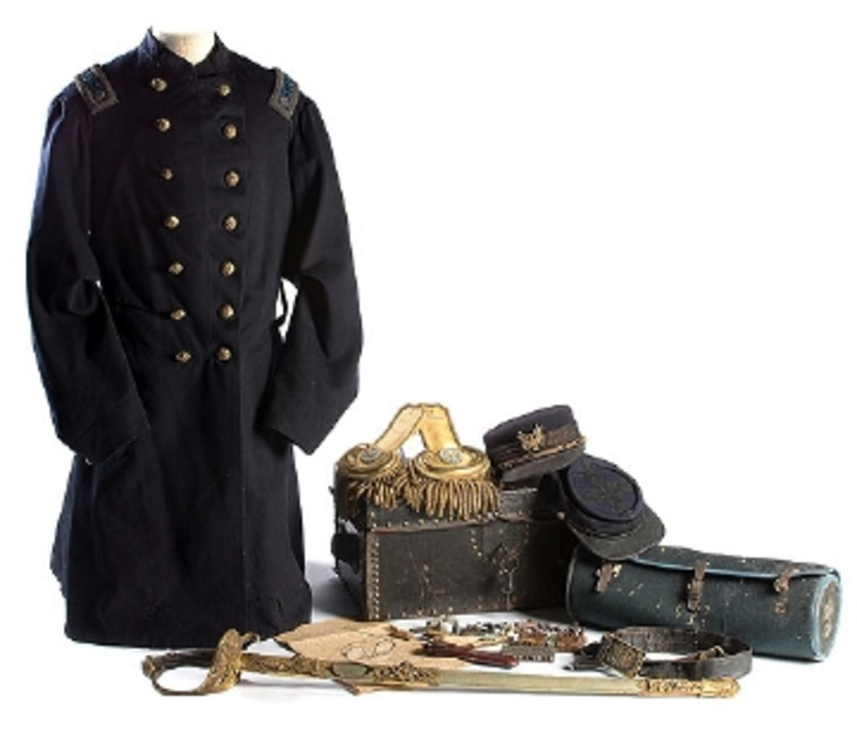 CIVIL WAR UNIFORM AND SWORD OF LT. COLONEL JOSEPH W. CORNING GARNERS $16,675