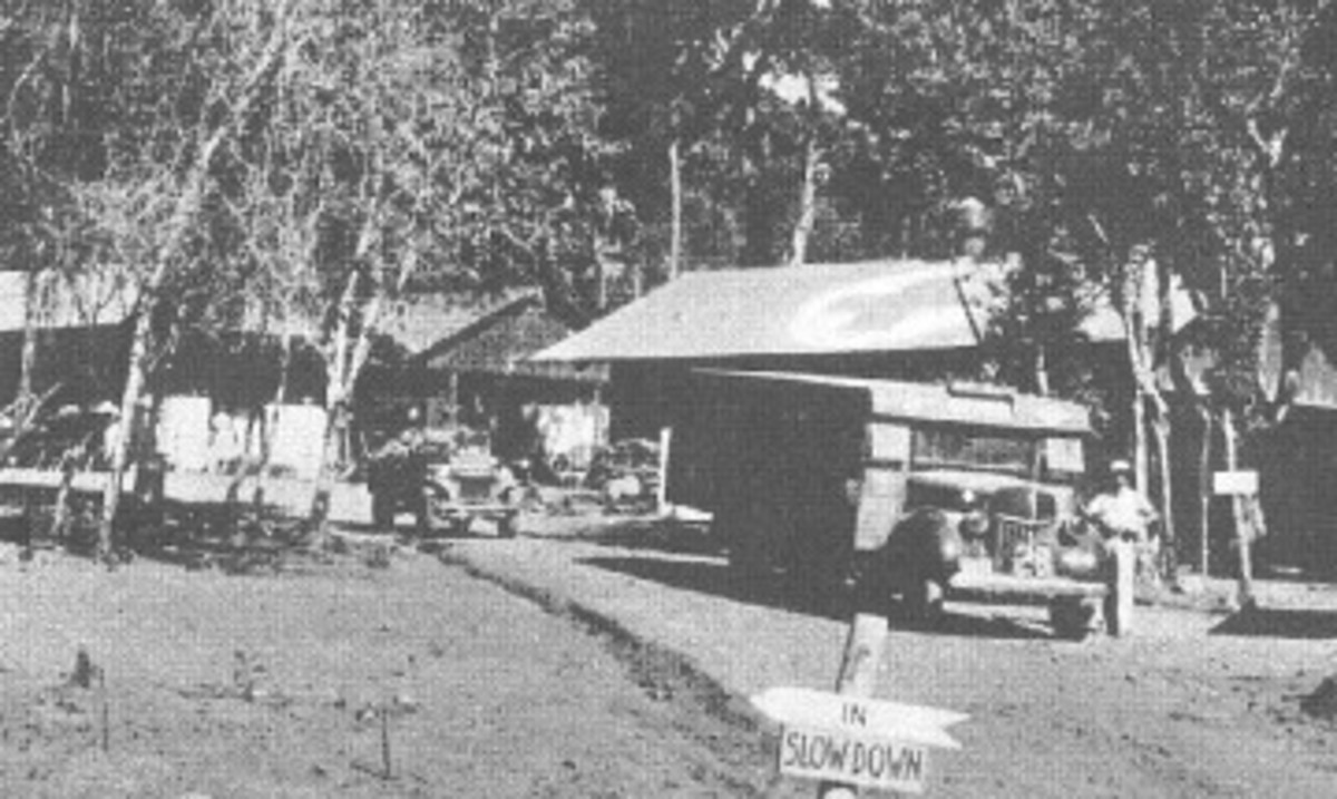 This rare photograph shows a Willys MA outside of Hospital #1` in Bataan, Philippines. D. Dizon