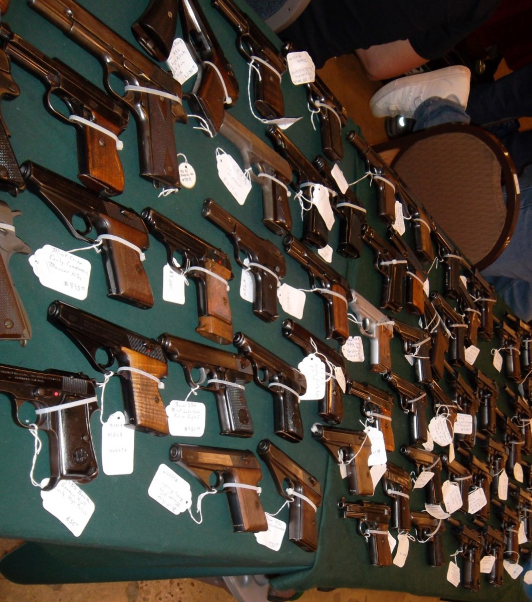 Scott Benedict of Pre98 Vintage Military & Collectible Firearms had a table full of military handguns