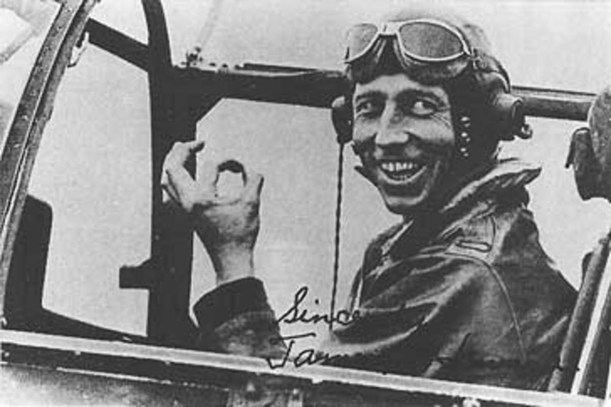 James H. Howard  in the cockpit of a P-51 of the 9th Air Force