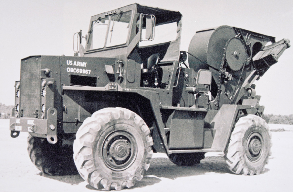 The next generation of ditching machines was from the Parson Division of Koehring. The new CE MIL-SPEC contained lessons learned. Parson worked with FWD to furnish a ditching machine on a heavy, on-off road 4x4, truck tailored for work and road travel.