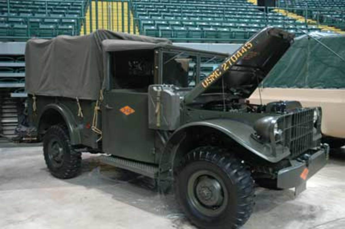 The M37 tooling was placed in storage until February 1958, when it was dusted off and slightly modified to incorporate minor changes to accommodate a new style transmission and relocated spare tire mounting. The first of these new vehicles, designated M37B1, was completed in April of 1958.