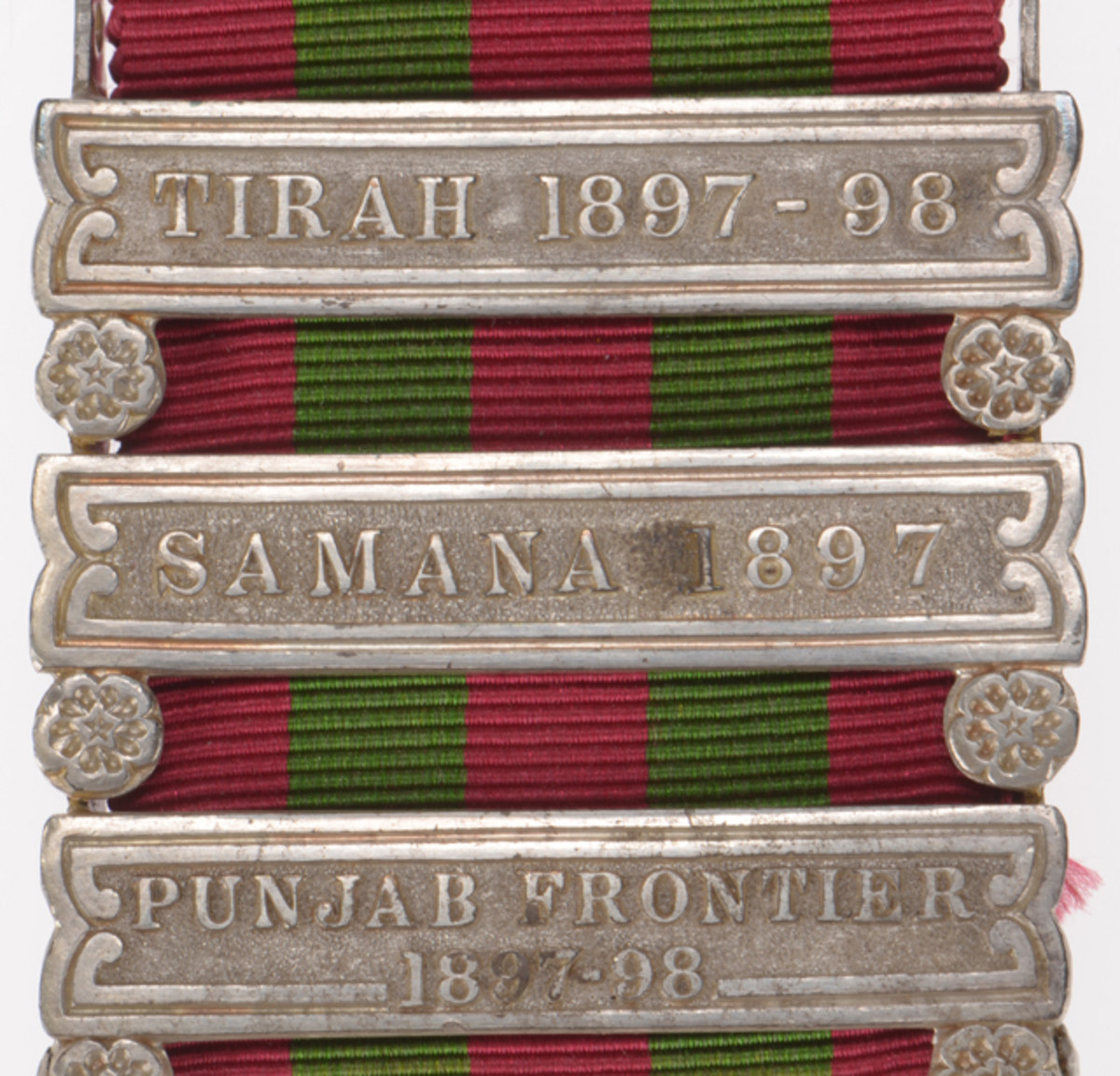 Clasps help tell the history of a medal's recipient. Used to denote a specific campaign or action, they are usually attached directly to the medal's suspender with subsequent clasps added above.