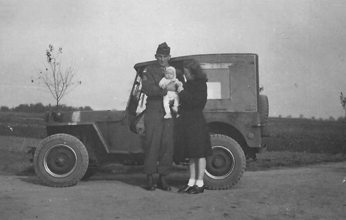 The elder John liked the Jeep he drove during after WWII, he purchased it and sent it back to the United. States where he used it as a farm vehicle. In the 1970s, his son, John P., took over caring for the Jeep.