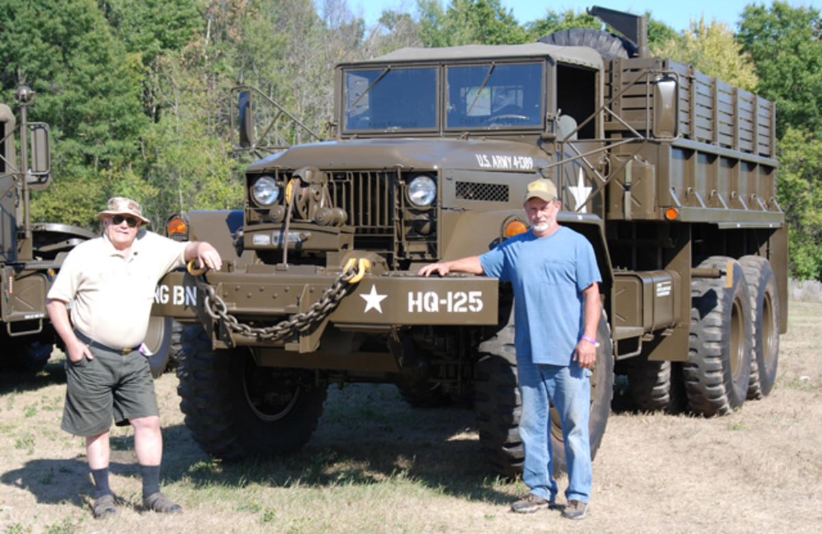 Finally, Mark's dream was realized. Here's the M125 completely restored to the its operational condition after it left the factory back in 1958. Previous owner, Robert Anderson, stands on the left with current owner and restorer, Mark Austin, on the right.